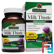 Milk Thistle, Seed Standardized Extract, Nature's Answer, 60 Vegetarian Capsules