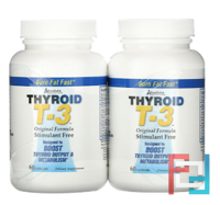 Thyroid T-3, Original Formula, 2 Bottles, Absolute Nutrition, 60 Capsules Each