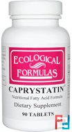 Ecological Formulas, Cardiovascular Research Ltd., Caprystatin, 90 Tablets