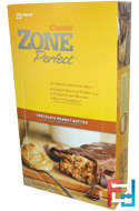 All-Natural Nutrition Bars, Chocolate Peanut Butter, ZonePerfect, Classic, 12 Bars, 1.76 oz (50 g) Each