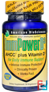 ImmPower D3, AHCC Plus Vitamin D3, American Biosciences, 30 Veggie Caps