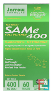 SAM-e (S-Adenosyl-L-Methionine) 400, Jarrow Formulas, 60 Enteric-Coated Tablets