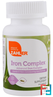 Iron Complex, Advanced Iron Complex, Zahler, 100 Capsules