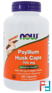 Psyllium Husk Caps, Now Foods, 700 mg, 180 Capsules