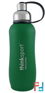 Think, Thinksport, Insulated Sports Bottle, Green, 25 oz, 750 ml