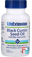 Black Cumin Seed Oil With Bio-Curcumin, Life Extension, 60 Softgels