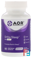 Ortho • Sleep, Advanced Orthomolecular Research AOR, 60 Vegi-Caps