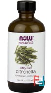 Essential Oils, Citronella, Now Foods, 118 ml