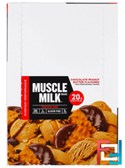 Muscle Milk, Protein Bar, Chocolate Peanut Butter, Cytosport, Inc, 12 Bars, 2.25 oz (64 g) Each