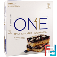 One Bar, Blueberry Cobbler, Oh Yeah!, 12 Bars, 2.12 oz (60 g) Each