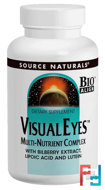 Visual Eyes, Multi-Nutrient Complex, Source Naturals, 90 Tablets