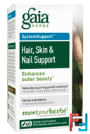 Hair, Skin & Nail Support, Gaia Herbs, 60 Vegetarian Liquid Phyto-Caps