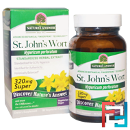 Super St. John's Wort, Standardized Herb Extract, 320 mg, Nature's Answer, 60 Vegetarian Capsules