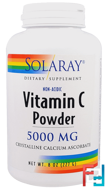 Solaray, Vitamin C Powder, 5,000 mg, 8 oz (227 g)