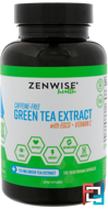 Advanced Green Tea Extract Plus Vitamin C, Zenwise Health, 120 Veggie Caps