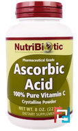 Ascorbic Acid, Crystalline Powder, NutriBiotic, 16 oz, 227 g