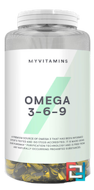 Omega 3 6 9 (Омега 3 6 9), Myprotein, 500 mg, 120 capsules