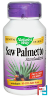 Saw Palmetto Standardized, Nature's Way, 60 Softgels