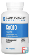 CoQ10 USP with Bioperine, Lake Avenue Nutrition, 100 mg, 360 Softgels