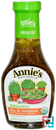 Organic Oil & Vinegar with Balsamic Vinegar Vinaigrette, Annie's Naturals, 8 fl oz (236 ml)