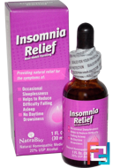 Insomnia Relief, NatraBio, 1 fl oz (30 ml)