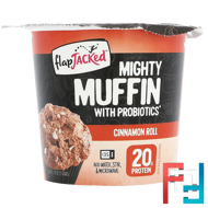 Mighty Muffin with Probiotics, Cinnamon Roll, FlapJacked, 1.94 oz (55 g)