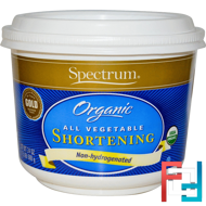 Organic All Vegetable Shortening, Spectrum Naturals, 24 oz (680 g)