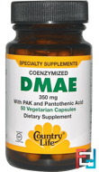 DMAE, Coenzymized, Country Life, 350 mg, 50 Veggie Caps