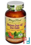 Women Over 40 One Daily, MegaFood, 90 Tablets