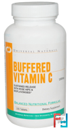 Buffered Vitamin C, Universal Nutrition, 1000 mg, 100 Tablets