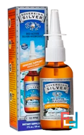 Bio-Active Silver Hydrosol, Immune Support, Vertical Spray, Sovereign Silver, 10 ppm, 2 fl oz, 59 ml