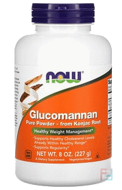 Glucomannan, Pure Powder, Now Foods, 8 oz (227 g)