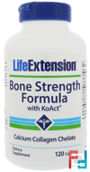 Bone Strength Formula With KoAct, Life Extension, 120 Capsules