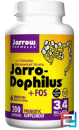 Jarro-Dophilus + FOS, 3.4 Billion, Jarrow Formulas, 200 Capsules (Ice)