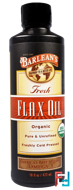 Organic, Fresh, Flax Oil, Barlean's, 16 oz, 473 ml