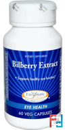 Bilberry Extract, Eye Health, Enzymatic Therapy, 60 Veggie Caps