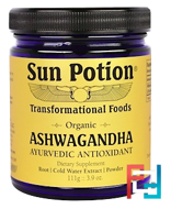 Sun Potion, Ashwagandha Powder, Organic, 3.9 oz, 111 g