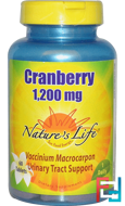 Cranberry, Nature's Life, 1,200 mg, 60 Tablets