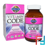 Vitamin Code, Women, Raw Whole Food Multivitamin, Garden of Life, 240 Veggie Caps