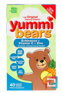 Yummi Bears, Echinacea + Vitamin C + Zinc, Hero Nutritional Products, 40 Yummi Bears