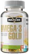 Omega-3 Gold, Maxler USA®, 1000 mg, 120 softgels