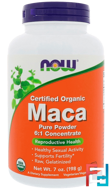 Certified Organic Maca, Pure Powder, Now Foods, 7 oz, 198 g