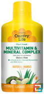 Food Based Multivitamin & Mineral Complex, Natural Mango Flavor, Country Life, 32 fl oz, 944 ml
