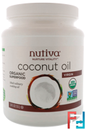 Organic Virgin Coconut Oil, Nutiva, 54 fl oz (1.6 L)