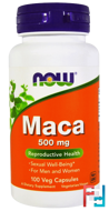 Maca, Now Foods, 500 mg, 100 Veg Capsules