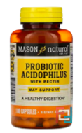Probiotic Acidophilus with Pectin, Mason Natural, 100 Capsules