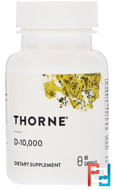 D-10,000, Thorne Research, 60 Vegetarian Capsules