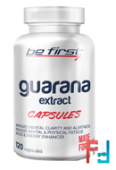 Guarana extract capsules, Be First, 120 capsules