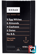 Protein Bars, Chocolate Sea Salt, RXBAR, 12 Bars, 1.83 oz, 52 g Each