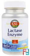 Lactase Enzyme, KAL, 250 mg, 60 Softgels
